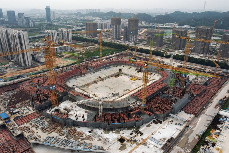 China Evergrande's construction of Guangzhou soccer stadium proceeding as planned